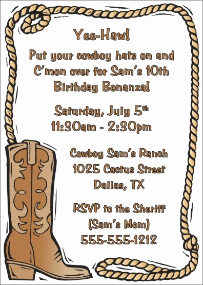 Cowgirl Invitation Template Free Elegant Best 25 Western Invitations Ideas On Pinterest