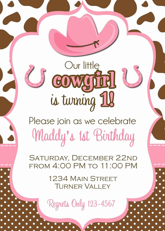 Cowgirl Invitation Template Free Elegant Cowgirl Invitation Cowgirl Party Invite Por