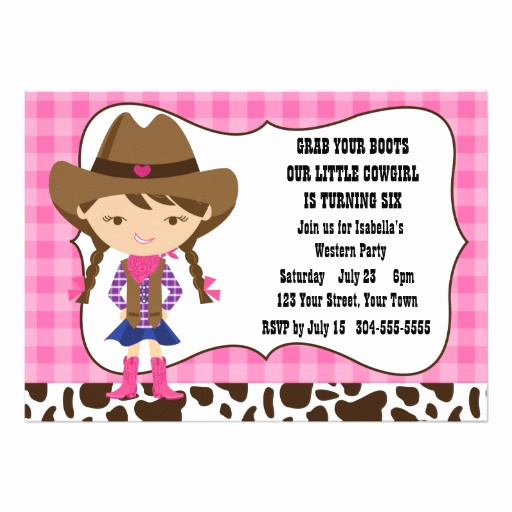 Cowgirl Invitation Template Free Fresh Cowgirl Birthday Party Invitations – Bagvania Free