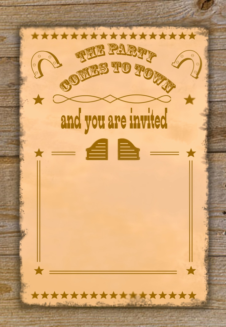 Cowgirl Invitation Template Free Lovely Free Cowboy Birthday Invitations – Free Printable Birthday