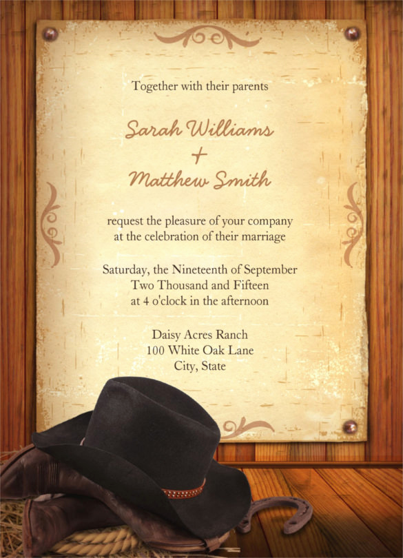 Cowgirl Invitation Template Free Luxury 5 Western Invitation Templates 25 Best Ideas About Cowboy