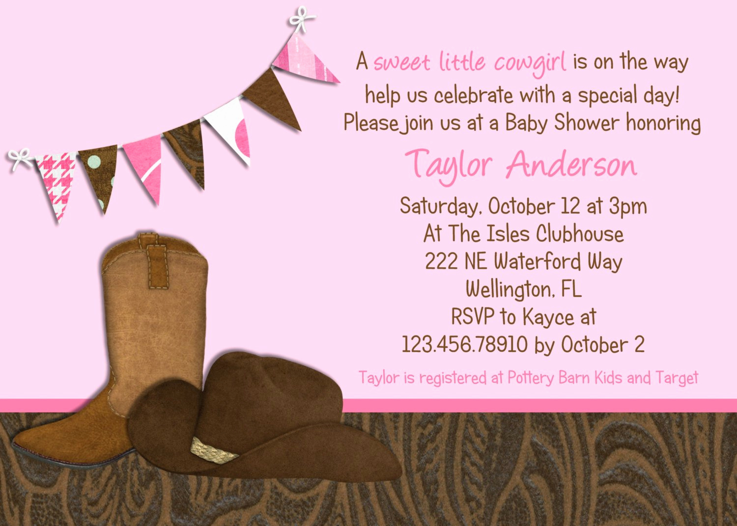 Cowgirl Invitation Template Free New Cowgirl Party Invitations