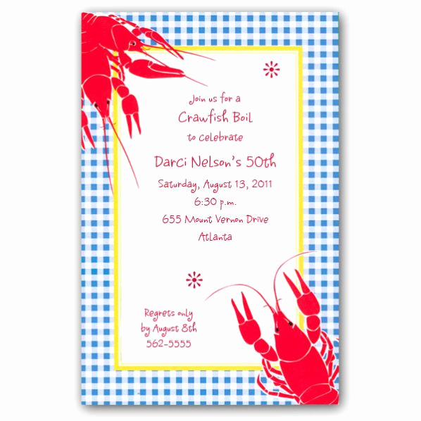Crawfish Boil Invitation Wording Awesome Birthday Crawfish Boil Invitations