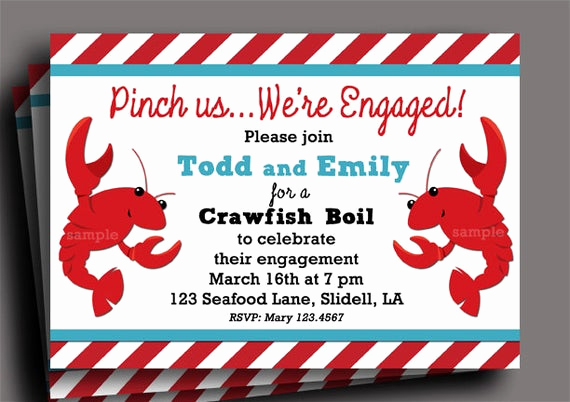Crawfish Boil Invitation Wording Best Of Crawfish Boil Invitation Printable or Printed with Free