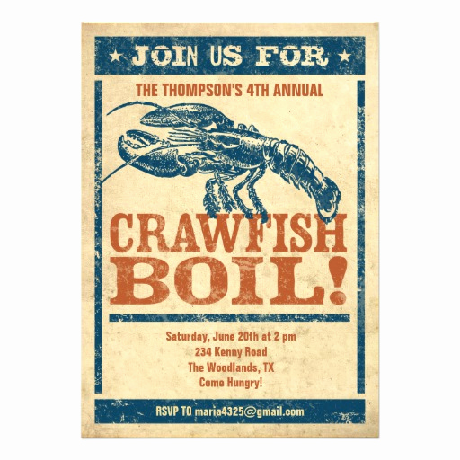 Crawfish Boil Invitation Wording Best Of Crawfish Boil Invitations