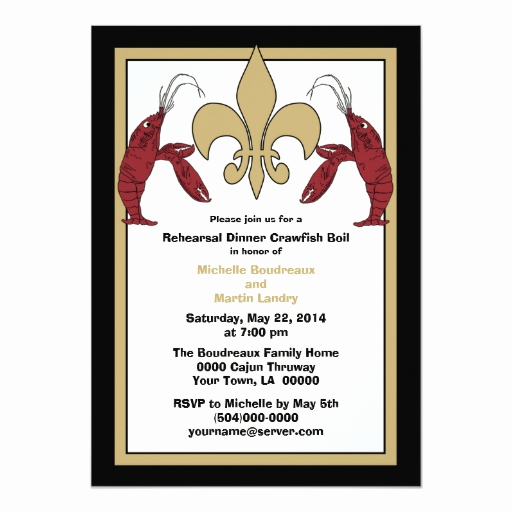 Crawfish Boil Invitation Wording Fresh Black Gold Crawfish Boil event Ii Invitations