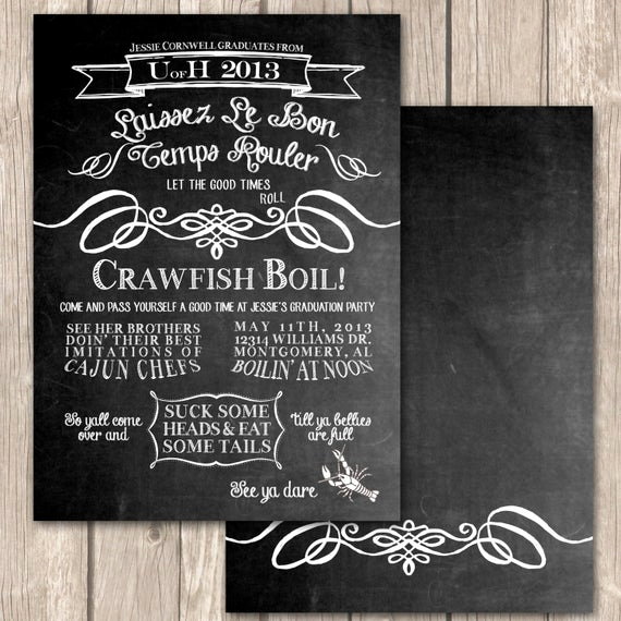 Crawfish Boil Invitation Wording Unique Items Similar to Cajun Crawfish Boil Invitations Unique