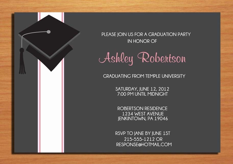 Create A Graduation Invitation Inspirational Create Graduation Party Invitations Cobypic