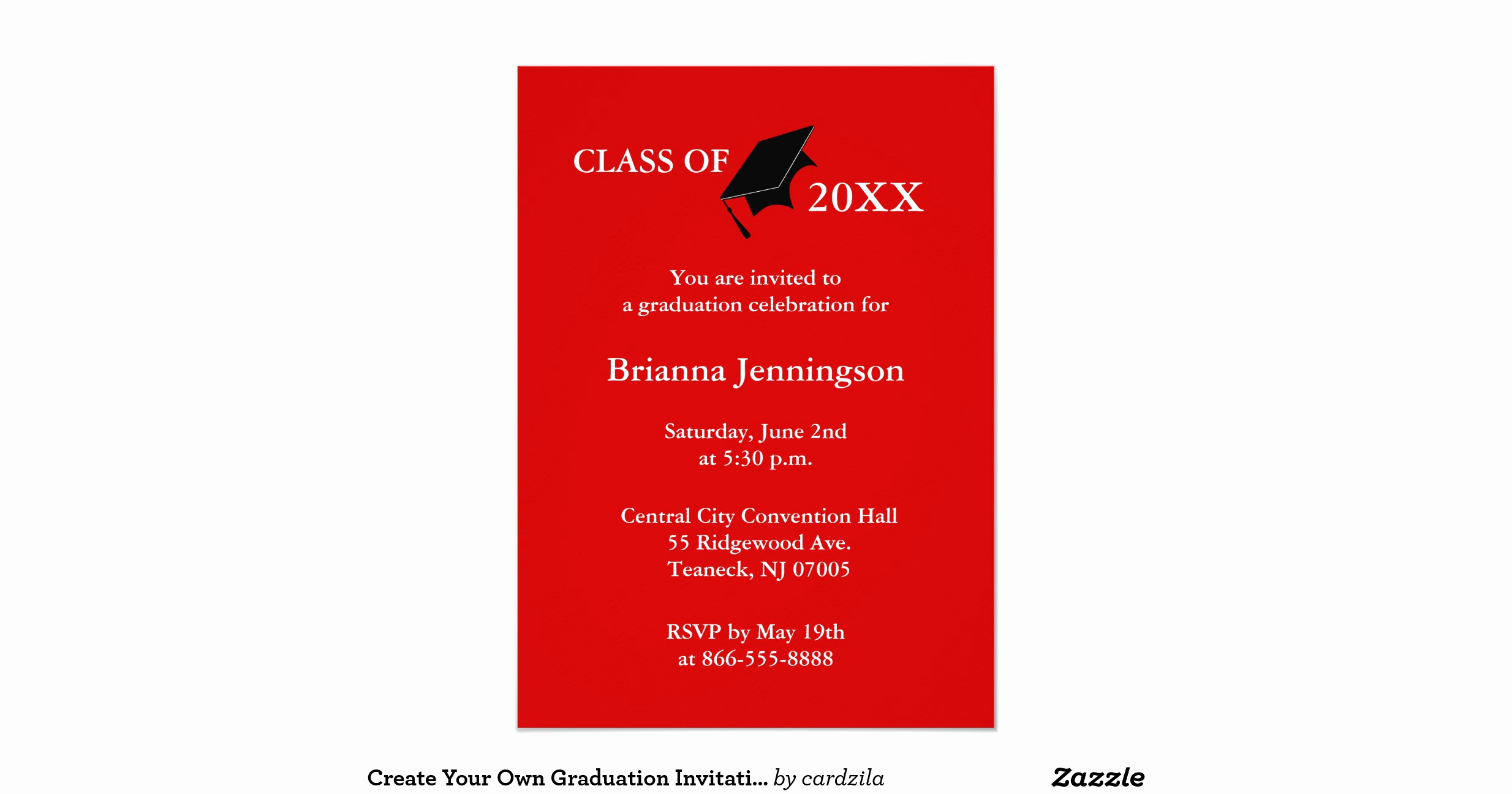 Create A Graduation Invitation Luxury Create Your Own Graduation Invitation 6