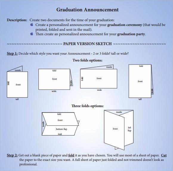 Create Graduation Invitation Online Lovely Sample Graduation Announcement Template 8 Free