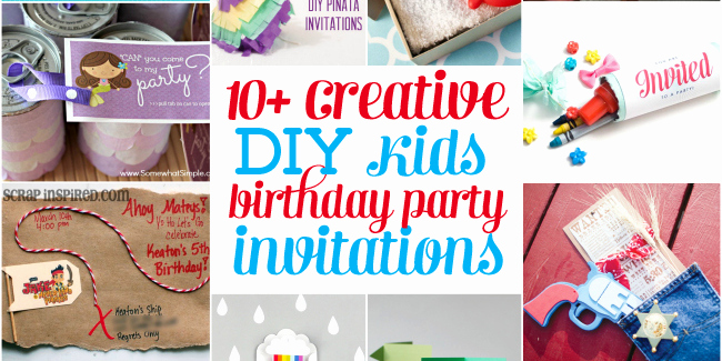 Creative Birthday Invitation Ideas Awesome 10 Creative Diy Kids Birthday Party Invitations Design