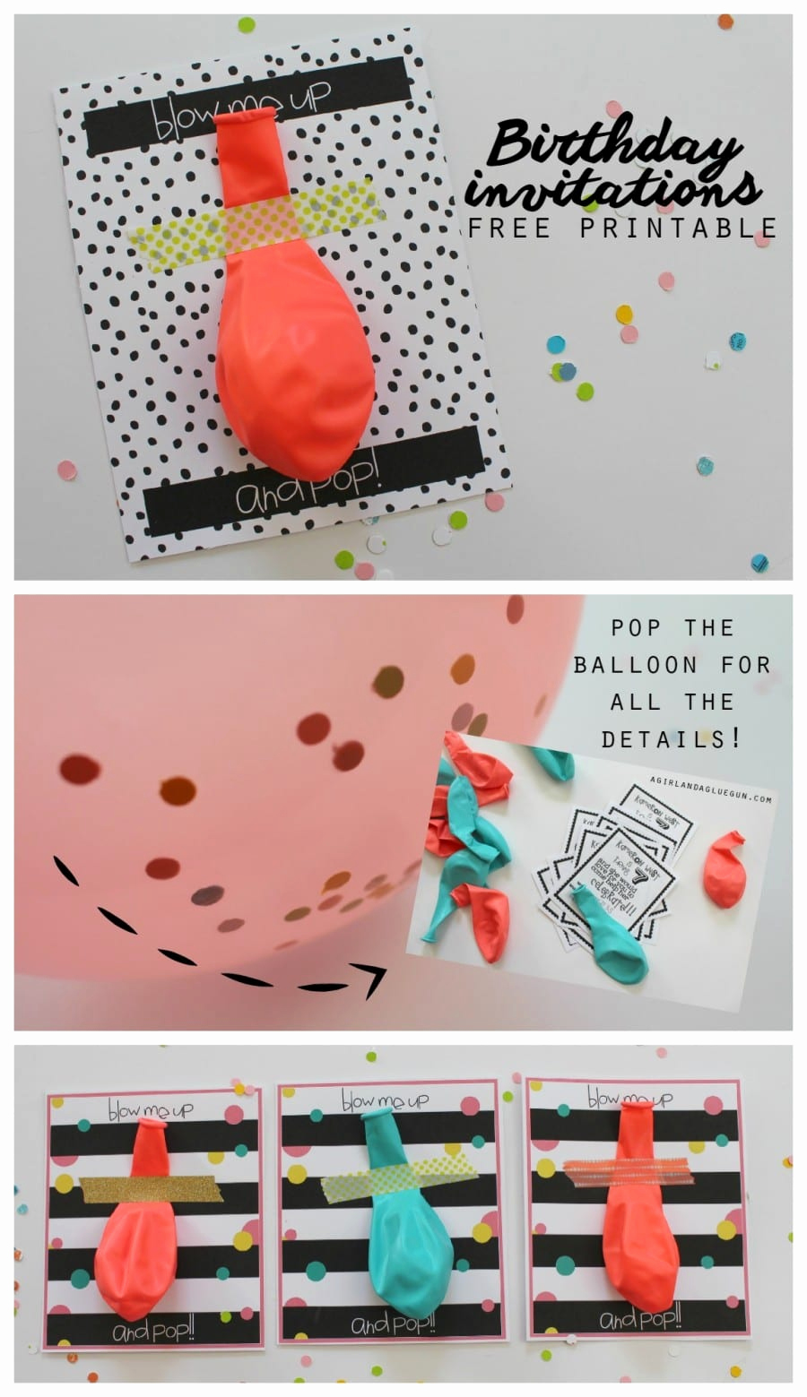 Creative Birthday Invitation Ideas Inspirational Balloon Invitations with Free Printables A Girl and A
