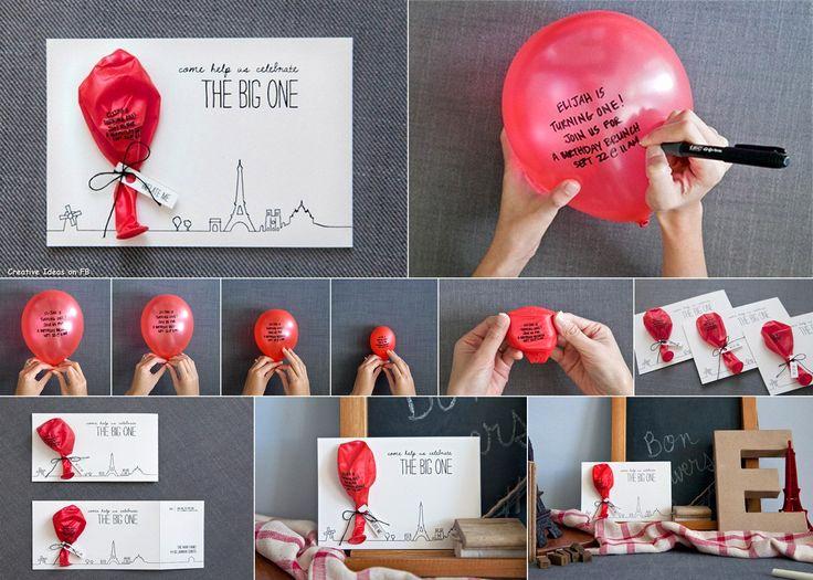 Creative Birthday Invitation Ideas New Best 25 Homemade Birthday Invitations Ideas On Pinterest