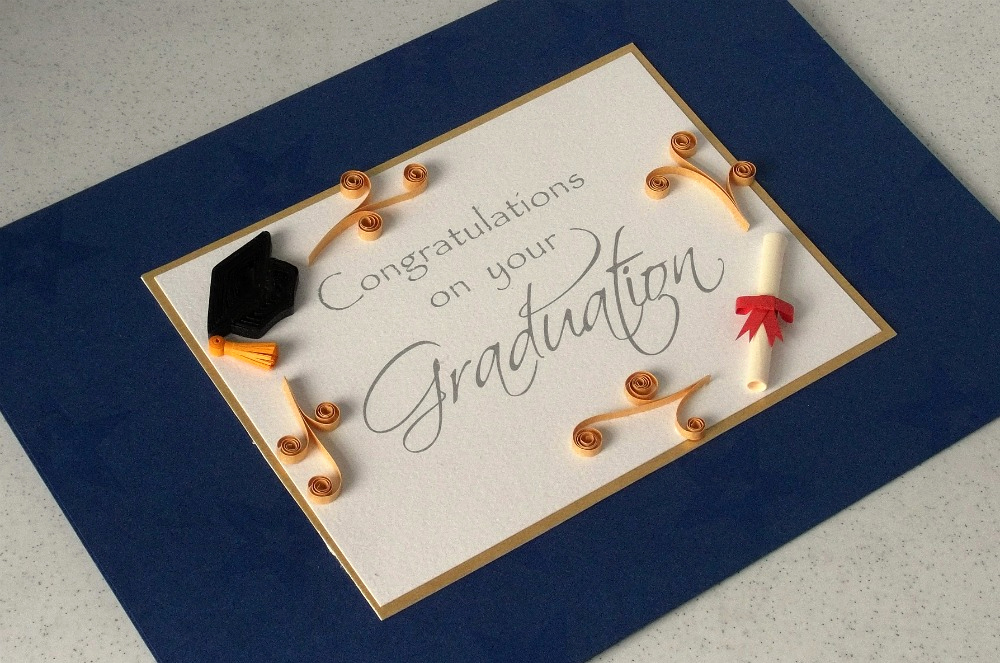 Creative Graduation Invitation Ideas Beautiful Paper Daisy Cards Quilled Graduation Card