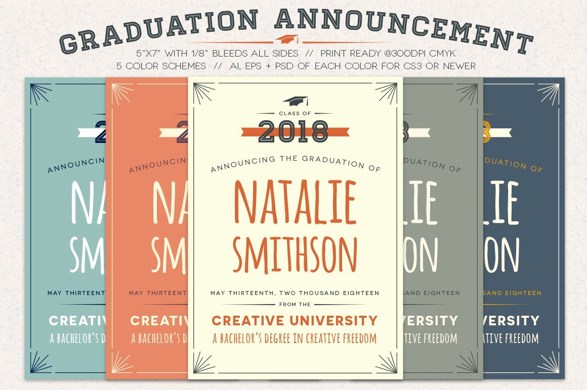 Creative Graduation Invitation Ideas Lovely Graduation Announcement Invitation Templates Creative