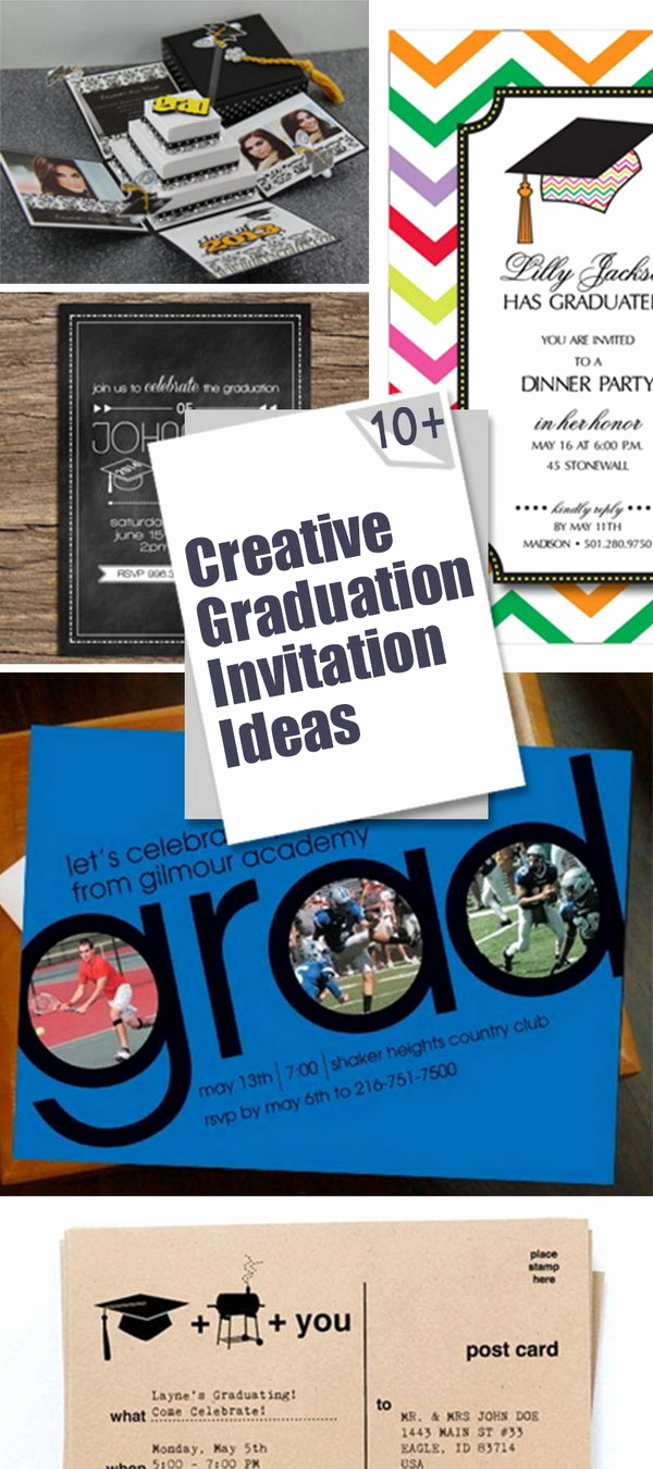Creative Graduation Invitation Ideas New 10 Creative Graduation Invitation Ideas Hative