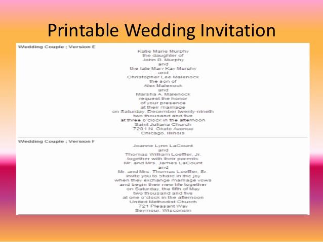 Creative Wedding Invitation Wording Lovely Free Wedding Invitation Wording