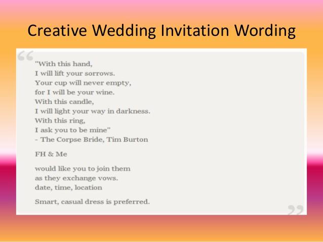 Creative Wedding Invitation Wording New Free Wedding Invitation Wording