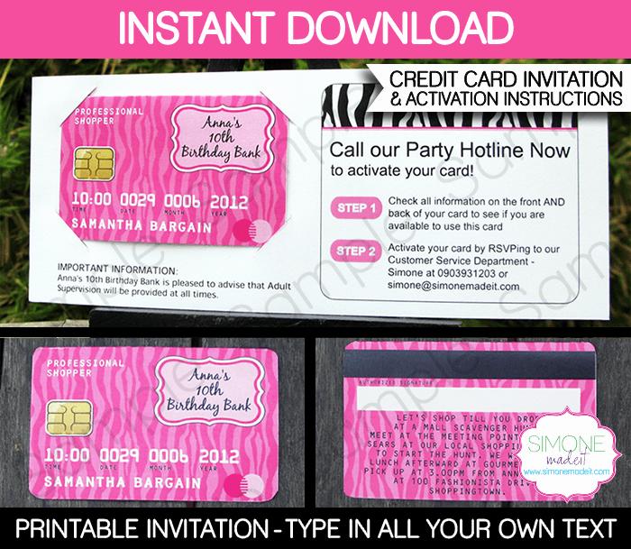 Credit Card Invitation Template Best Of Credit Card Invitations