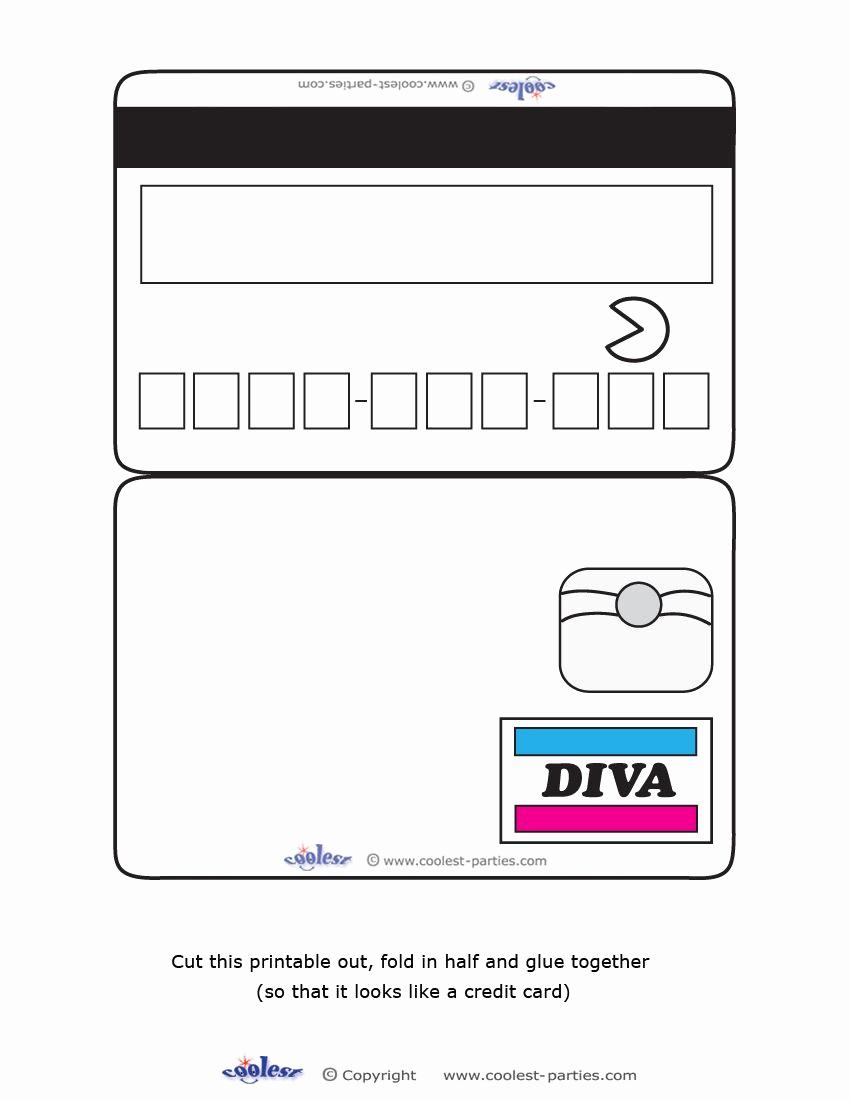Credit Card Invitation Template Elegant Blank Printable Diva Credit Card Invitations Coolest
