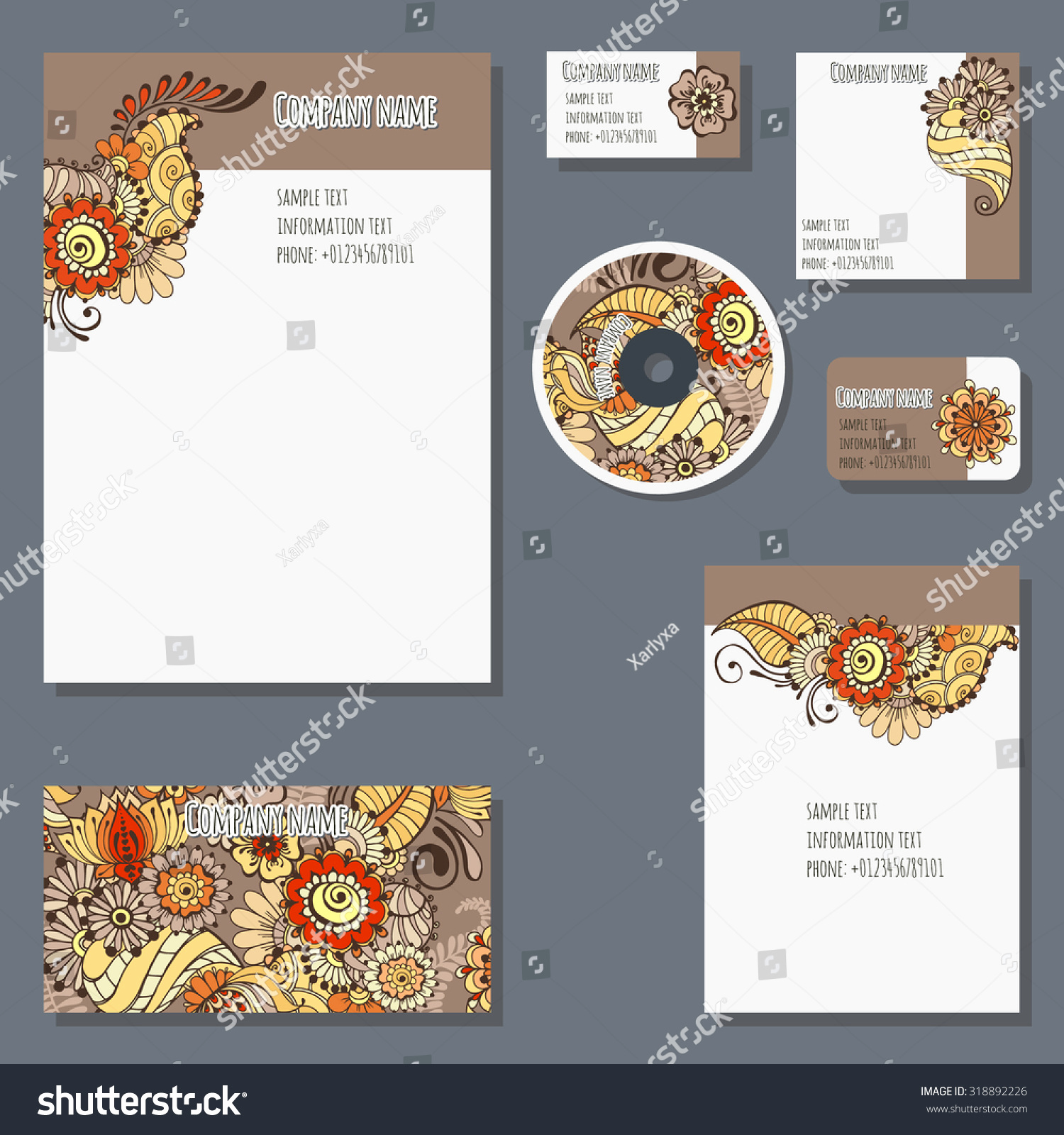 stock vector set of templates for cd disks envelopes notebooks credit card business card and invitation card