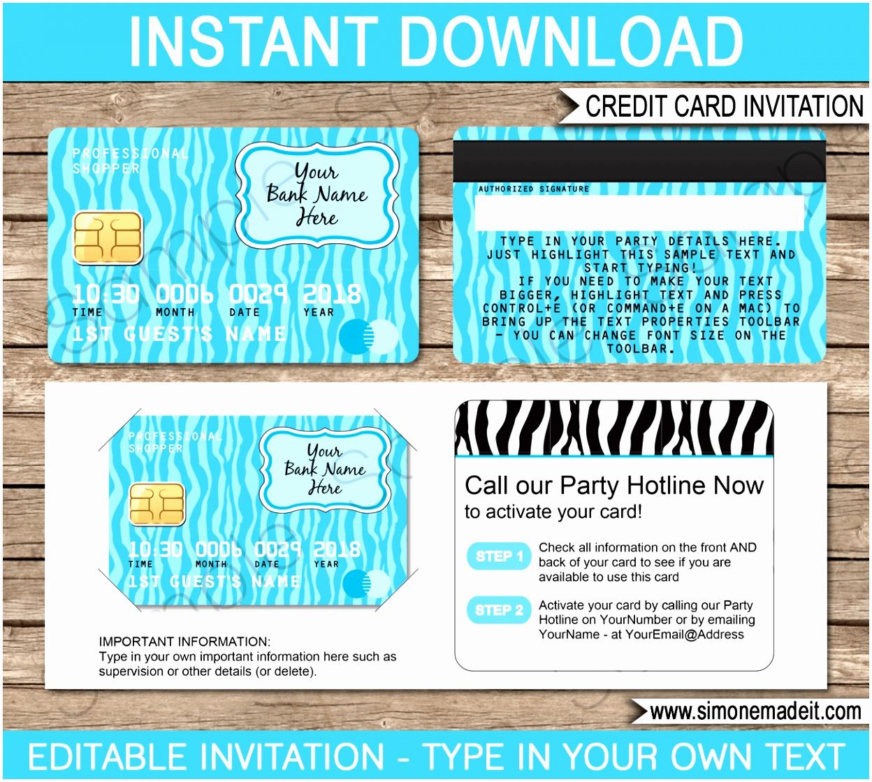 Credit Card Invitation Template Unique 8 Mall Scavenger Hunt Invitation Template Tuytw