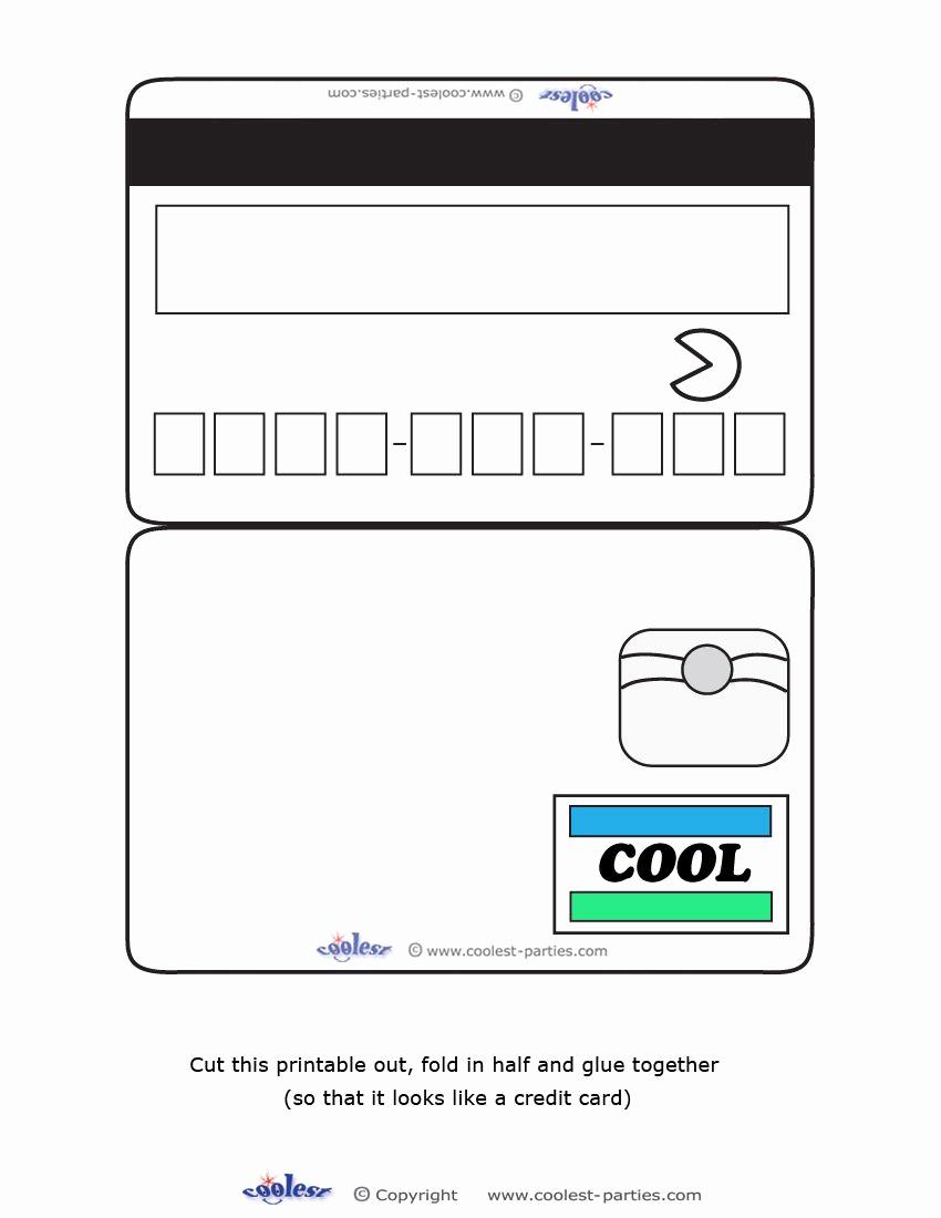 Credit Card Invitation Template Unique Blank Printable Cool Credit Card Invitations for A Mall