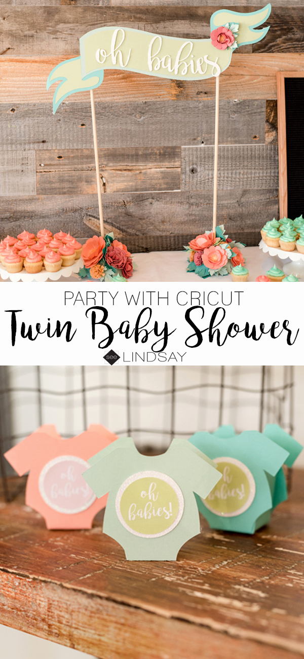 Cricut Baby Shower Invitation Ideas Elegant Throw A Twin Baby Shower and Decorate with Your Cricut