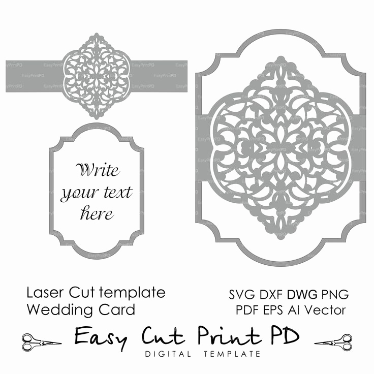 Cricut Wedding Invitation Templates Elegant 418 Best Images About Silhouette Cards On Pinterest