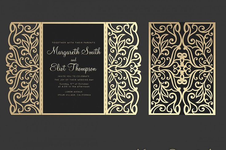 Cricut Wedding Invitation Templates Lovely Gate Fold Wedding Invitation 5x7 Cricut Template