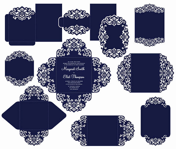 Cricut Wedding Invitation Templates Luxury Big Set Cricut Wedding Invitation Template Gate Fold Card