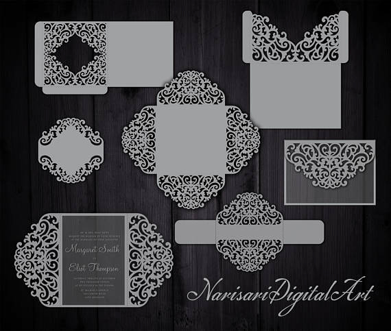 Cricut Wedding Invitation Templates New Big Set Cricut Wedding Invitation Template Gate Fold Card