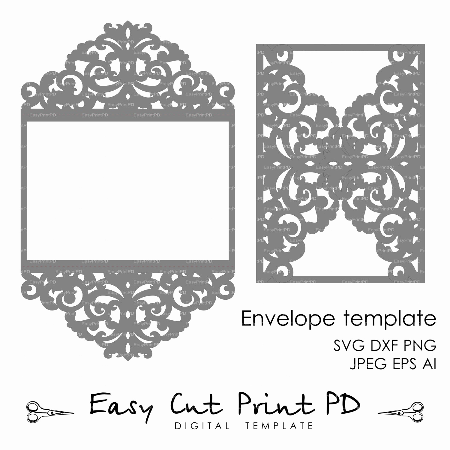 Cricut Wedding Invitation Templates New Wedding Invitation Pattern Card Template Lace by