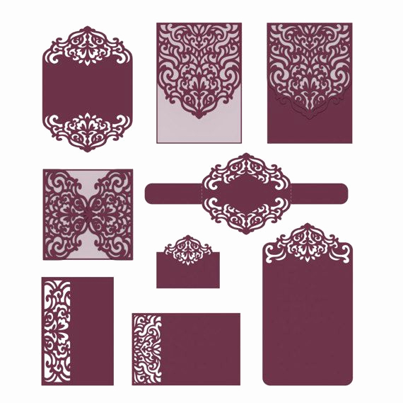 Cricut Wedding Invitation Templates Unique Set Laser Cut Templates Svg Dxf Cdr Rsvp Reception