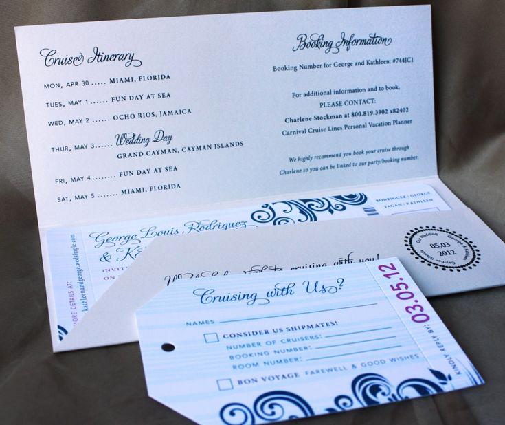 Cruise Ship Wedding Invitation Awesome Cruise Boarding Pass Wedding Invitations