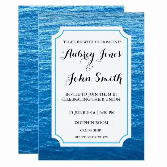 Cruise Ship Wedding Invitation Best Of Cruise Ship at Sea Wedding Invitation