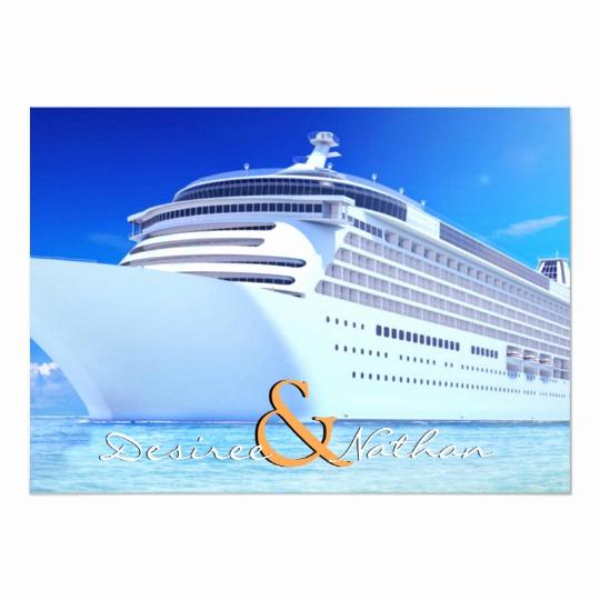 Cruise Ship Wedding Invitation Elegant Cruise Ship Wedding Invitation