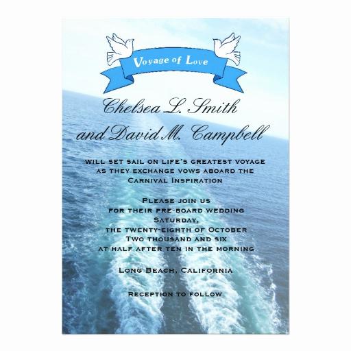 Cruise Ship Wedding Invitation Elegant Voyage Of Love Cruise Ship Destination Wedding 5x7 Paper