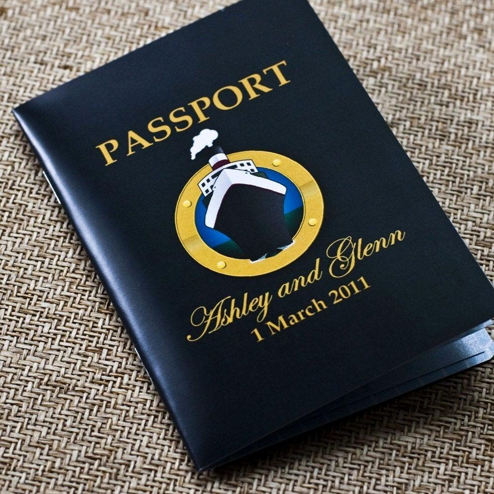 Cruise Ship Wedding Invitation Inspirational Passport Wedding Invitation Design Fee Cruise Ship Wedding