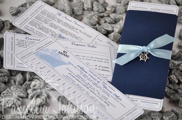 Cruise Ship Wedding Invitation Lovely Navy Blue Destination Wedding Invitation