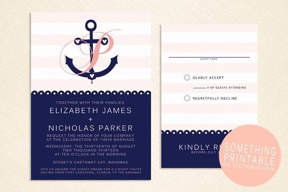 Cruise Ship Wedding Invitation New Items Similar to Rachel Printable Cruise Line Inspired