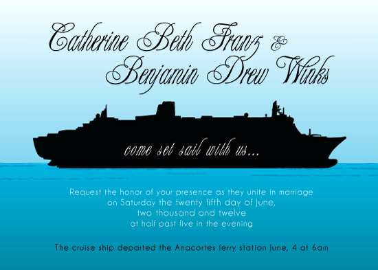 Cruise Ship Wedding Invitation Unique Anslie S Blog Printable Personalized Invitation Wedding
