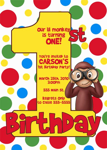 Curious George Birthday Invitation Awesome Curious George Invitation by Digiparteeshop On Etsy $10