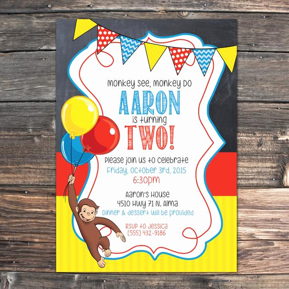 Curious George Birthday Invitation Beautiful Curious George Birthday Invitation Pdf File by Ajandtaytay