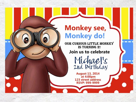 Curious George Birthday Invitation Elegant Curious George Birthday Invitations – Free Printable