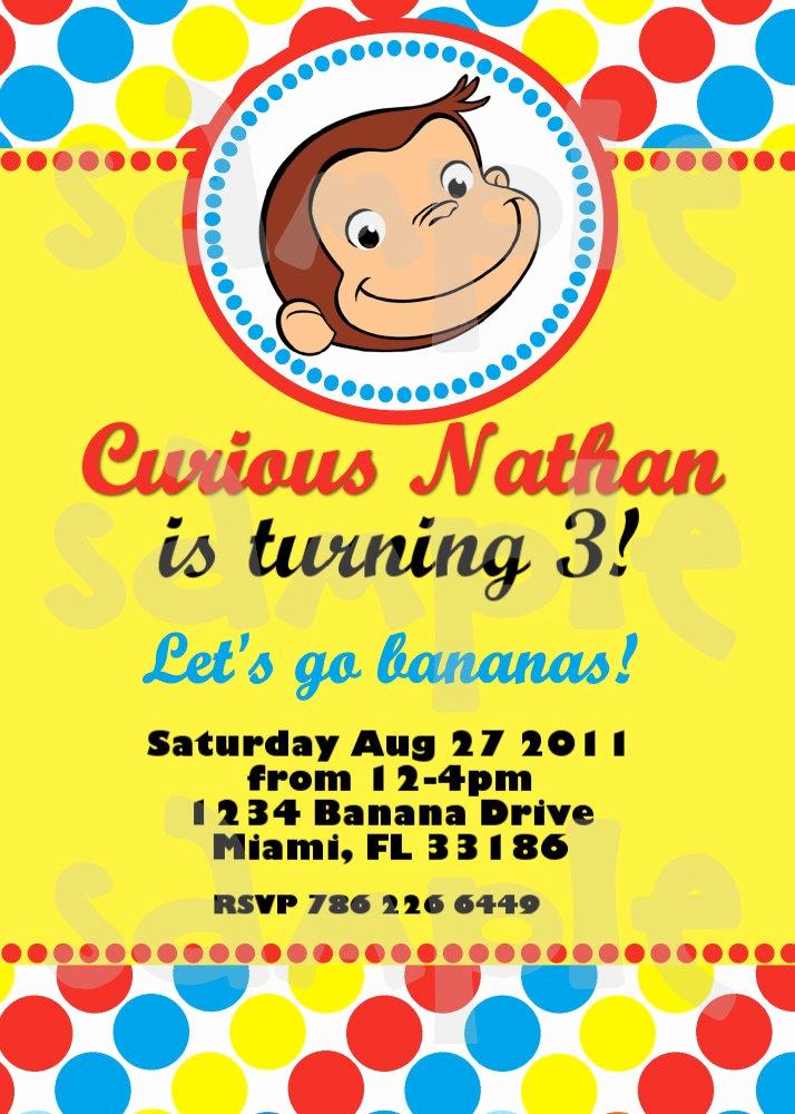 Curious George Birthday Invitation Inspirational Best 25 Curious George Invitations Ideas On Pinterest