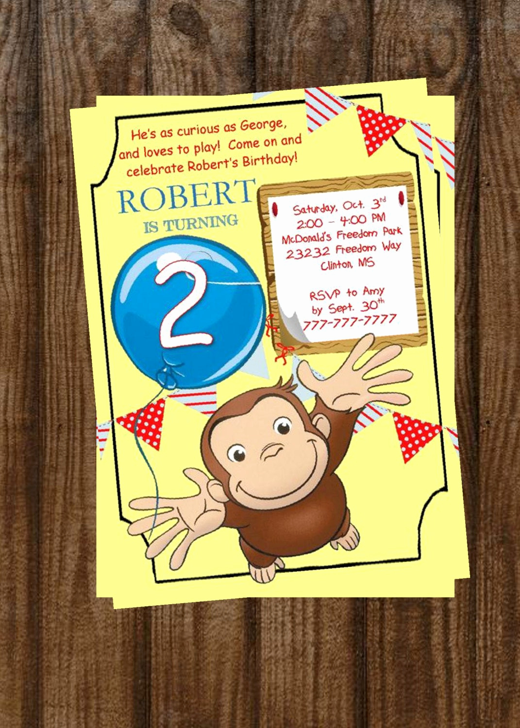 Curious George Birthday Invitation New Diy Printable Curious George Birthday Invitation Curious