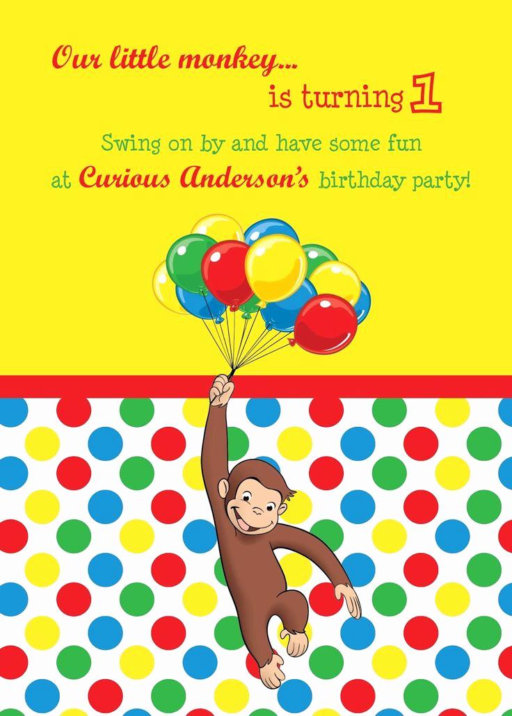 Curious George Birthday Invitation Unique Best 25 Curious George Invitations Ideas On Pinterest