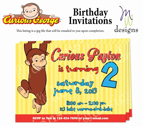 Curious George Invitation Template Awesome 301 Moved Permanently