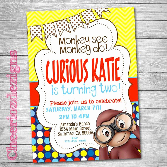 Curious George Invitation Template Best Of 17 Best Ideas About Curious George Invitations On
